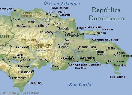 Carte R�publique Dominicaine